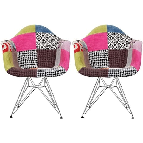 2xhome Designer Molded Plastic Arm Chairs With Back Wire Eiffel Matte Office Retro Pyramid Dining Room Bedroom Work