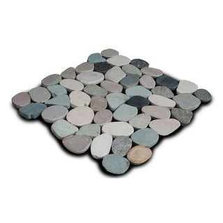 Miseno MT-S3PGBT Flatten Pebble Natural Stone Mosaic Tile (10.12 SF / Carton)