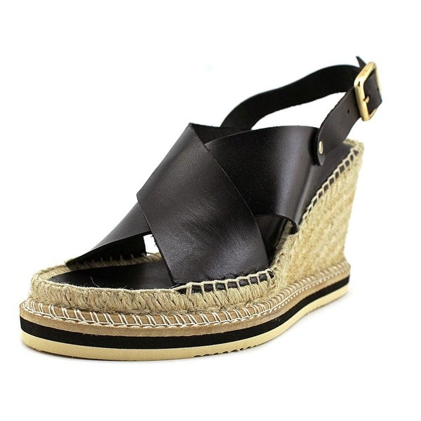 André Assous Womens emily Leather Open Toe Casual Platform Sandals
