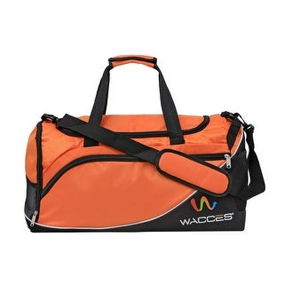 Wacces Lightweight Sport Gym Travel Duffel Bag with Shoe Punch Medium