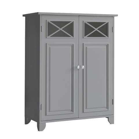 Dawson Floor Cabinet With 2 Doors with Grey Finish