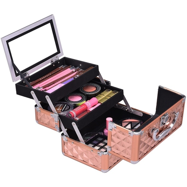 Shop Gymax Makeup Organizer Cosmetic Case with Extendable