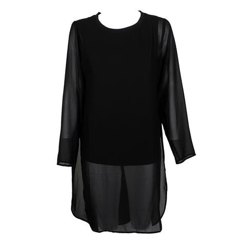 Alfani Deep Black Illusion Tunic 10