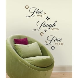 "Roommates RMK1396SCS Live Laugh Love Wall Decals, 10"" x 18"""