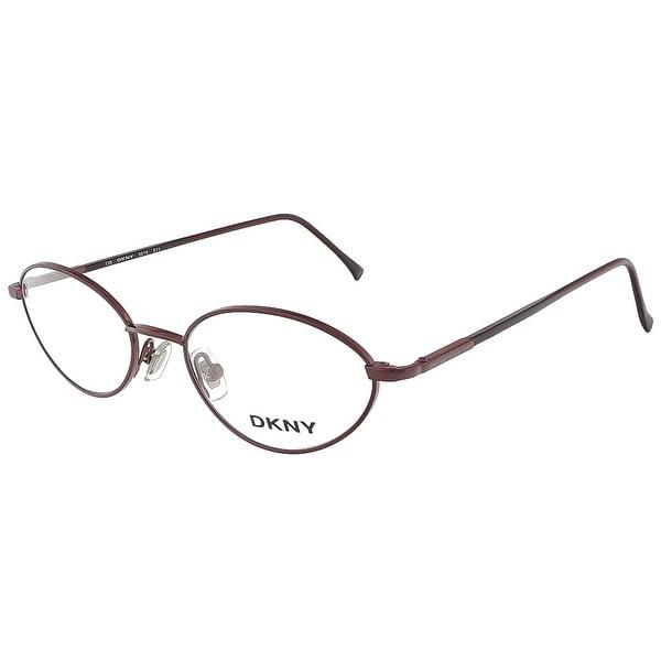 DKNY 6218 511 Shiny Eggplant/Matte Eggplant Oval Eyewear - 48-18-135