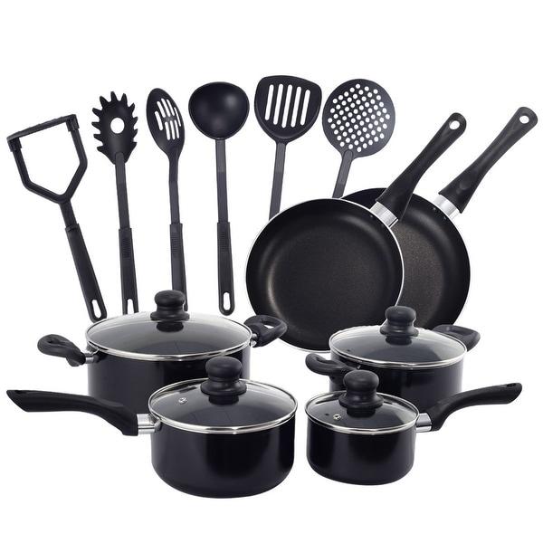 Costway 16 Piece Non Stick Cooking Kitchen Cookware Set Pots And Pans Kitchen Set