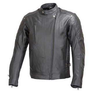 Men Motorcycle Armor Leather Jacket Rocker Style by Xtreemgear Black MBJ030