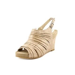 Aerosoles Plush On You Open Toe Canvas Wedge Sandal