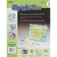 "White - Shrink Film 8.5""X11"" 6/Pkg"