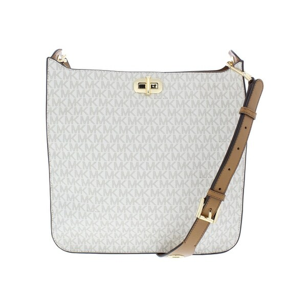 5649b8cfe277 MICHAEL Michael Kors Womens Sullivan North South Handbag Faux Leather  Signature - LARGE