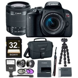 Canon EOS Rebel T7i DSLR Camera w/18-55mm lens & 32GB Premium Accessory Bundle|https://ak1.ostkcdn.com/images/products/is/images/direct/dfe2291c90100bd4796dd6c66e1354fc0506d668/Canon-EOS-Rebel-T7i-DSLR-Camera-w-18-55mm-lens-%26-32GB-Premium-Accessory-Bundle.jpg?impolicy=medium