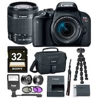 Canon EOS Rebel T7i DSLR Camera w/18-55mm lens & 32GB Premium Accessory Bundle
