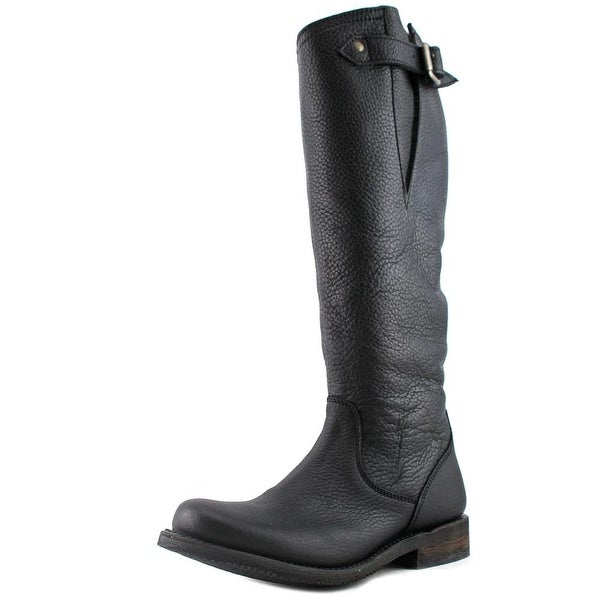 Independent Boot Company McKinley Women Round Toe Leather Knee High Boot