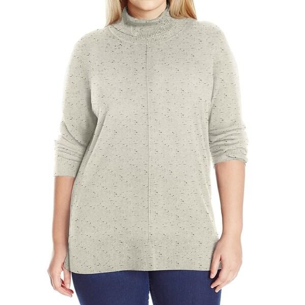 Calvin Klein NEW White Ivory Women's Size XL Turtleneck Mock Sweater