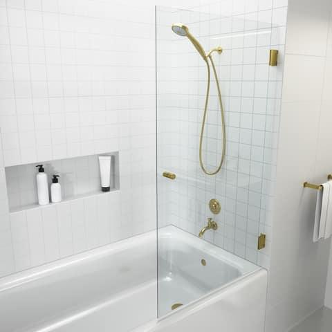 "Glass Warehouse 58.25"" x 31.5"" Frameless Shower Bath Door - Door Only"