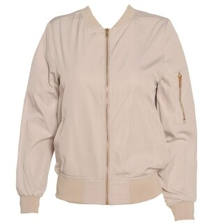Casting LA Junior Girls Khaki Zipper Closure Detail Trendy Bomber Jacket