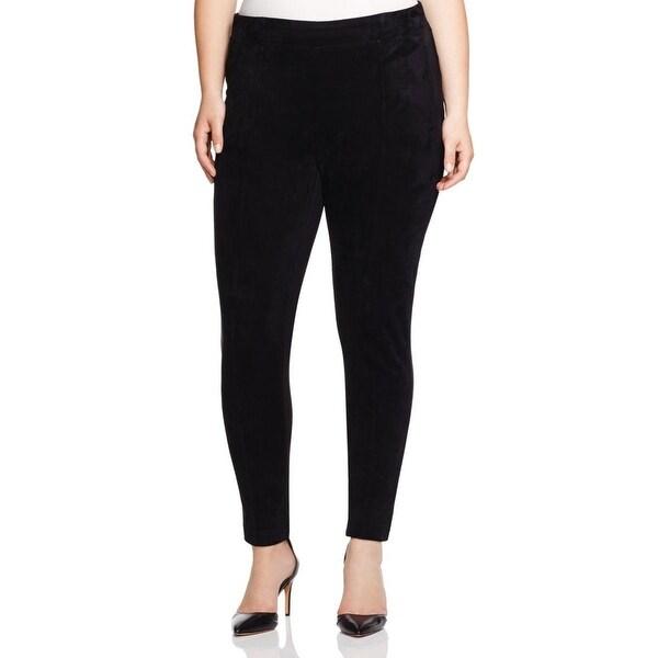 Calvin Klein Womens Plus Dress Pants Mixed Media Power Stretch
