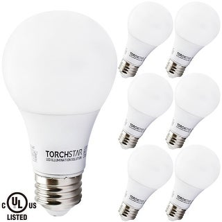 6 PACK 6W UL-listed A19 LED Bulb, 40W Equivalent, 2700K Soft White/5000K Daylight, E26 Medium Base, 470lm for General Lighting (2 options available)