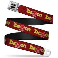 Dodge Demon Full Color Black Yellow Red Dodge Demon Burgundy Yellow Red Seatbelt Belt