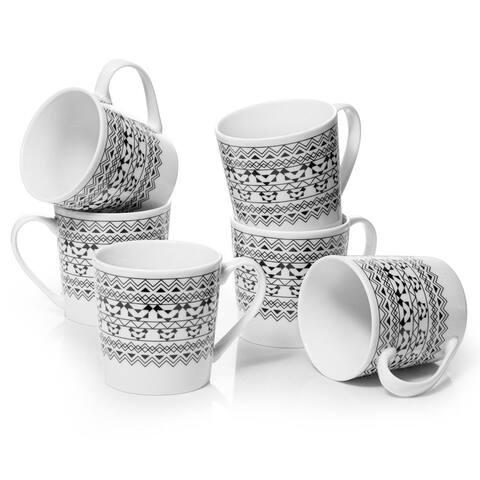 DOWAN 18 oz. Modern Bohemian Coffee Mug