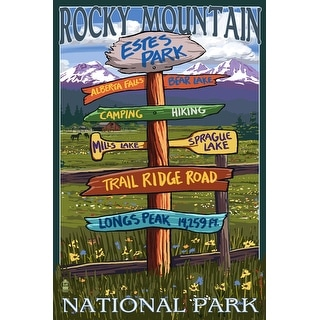 Estes Park, CO - Dest Sign #2 - LP Artwork (Art Print - Multiple Sizes)