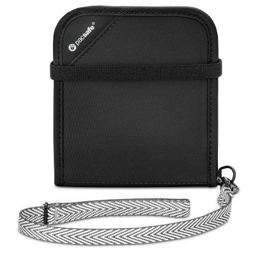 Pacsafe 10556100-Black Anti-Theft RFIDsafe V100 Blocking Bi-Fold Wallet