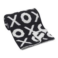 Lambs & Ivy Black Chenille Blanket – XOXO