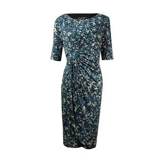 Connected Women's Printed Wrapped Dress