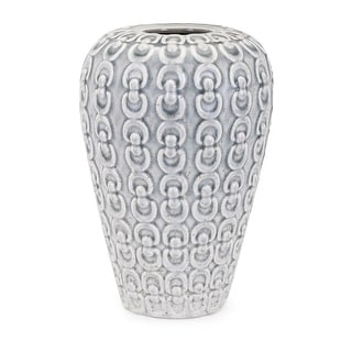 """IMAX Home 10964  Gabriel 12"""" Tall Handcrafted Ceramic Vase - Gray"""
