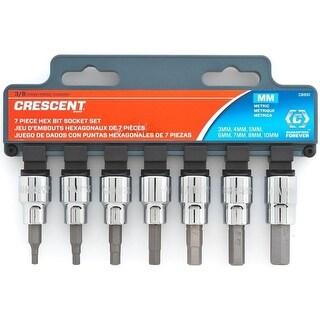 "Crescent CBSS1 Metric Hex Bit Socket Set, 3/8"""