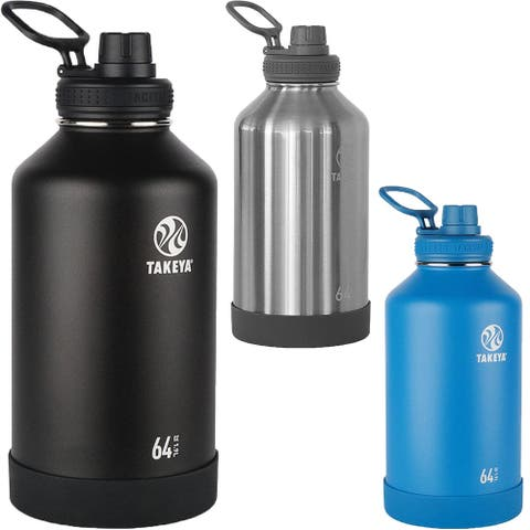 Takeya Actives 64 oz. Insulated Stainless Steel Water Bottle