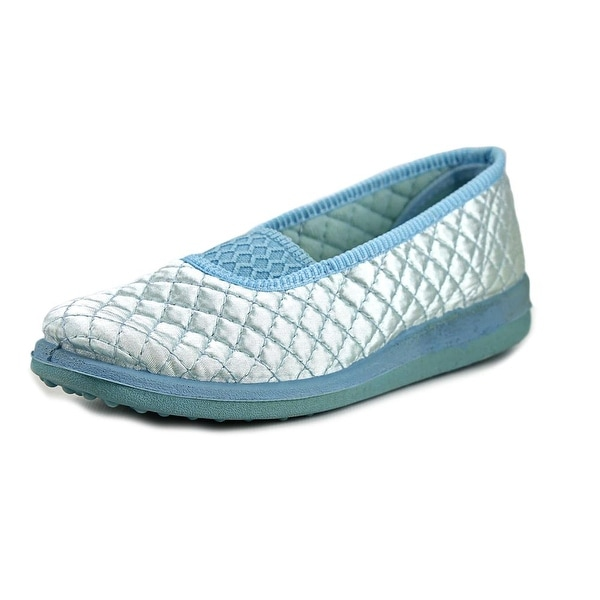 Soft-Fit Sasha Women Round Toe Canvas Blue Slipper