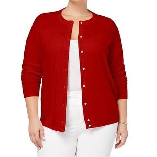 3X Sweater Pullover BLACK WHITE MARBLE Faux Pearls  MSRP $49.50 KAREN SCOTT