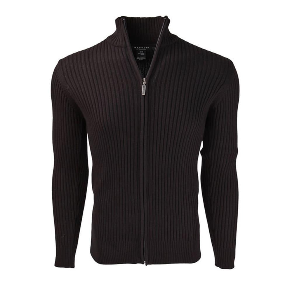 Mens Full Zip Long Sleeved Cotton Plain Sweatshirt Top Jumper Black Navy Size