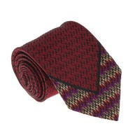 Missoni U5126 Red/Black  Flame Stitch  100% Silk Tie - 60-3