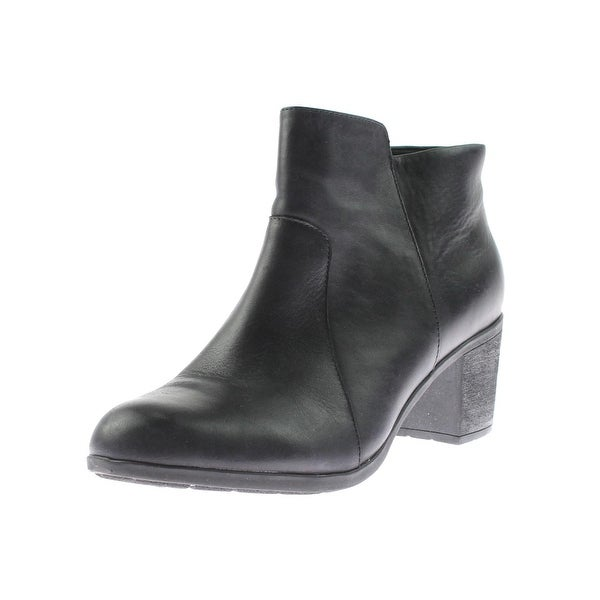 Easy Spirit Womens Billian Ankle Boots Leather Chunky Heel