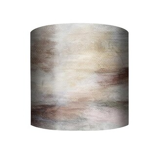 """PTM Images 10-0114 Northern Lights 10"""" Tall x 12"""" Wide Cylinder Fabric Lamp Shade with Spider Fitter - beige - n/a"""