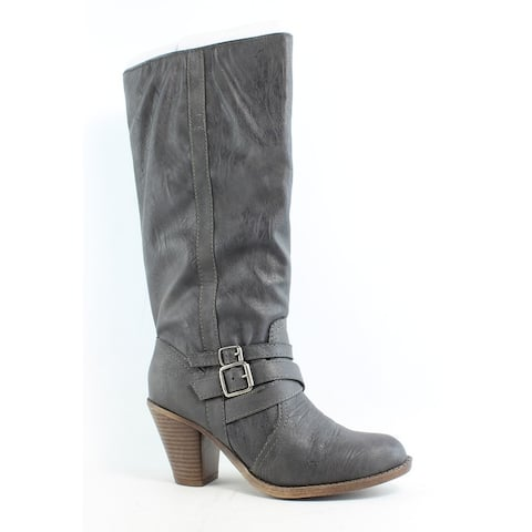 MIA Womens Molly Gray Fashion Boots Size 7