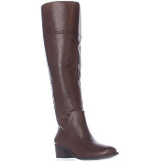 Vince Camuto Bendra Over-the-Knee Woven Boots - Russet