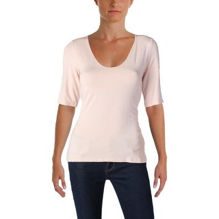 T by Alexander Wang Womens Casual Top V-Neck Short Sleeves - m