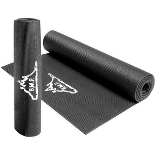 "Black Mountain Products Yoga Exercise Mat - 1/4"" Thick, 72"" Long"