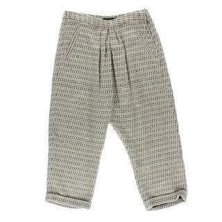 Catherine Malandrino Womens Tweed Cuffed Cropped Pants - 40