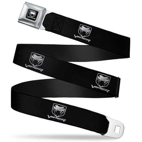 Dodge Viper Dodge Viper Black Silver Logo Repeat Seatbelt Belt Fashion Belt