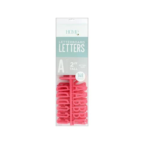 Lp-006-00006 diecuts letterboard letters 2 coral 148pc