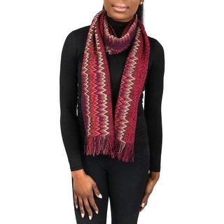 Missoni SC31WMU5171 0003 Red/Purple Wool Blend Womens Scarf - 17 - 70