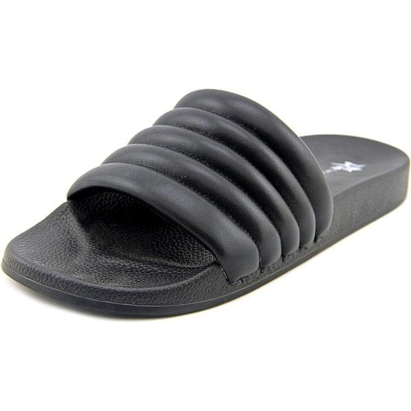 LFL Corsica Women Open Toe Synthetic Black Slides Sandal