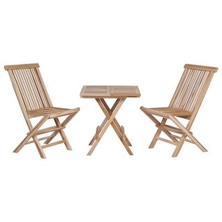 vidaXL 3 Piece Folding Bistro Set Solid Teak Wood