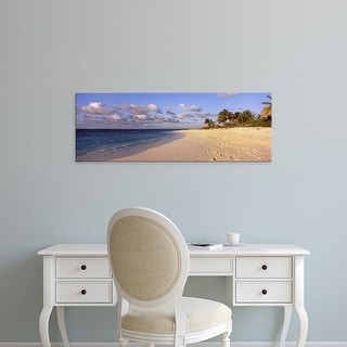 Easy Art Prints Panoramic Images's 'Waves on the beach, Shoal Bay Beach, Anguilla' Premium Canvas Art