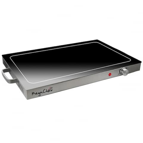 MegaChef 25in Length Electric Warming Tray with Adjustable Temperature