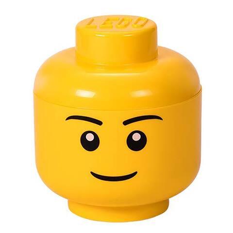 Lego Small Iconic Boy Mini-figure Storage Head, Yellow, Ages 3+